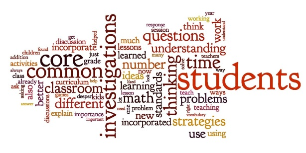 Q: What have you been able to incorporate from what you learned in this course aboutInvestigationsand about the Common Core, into your classroom? Wordled responses from course participants...