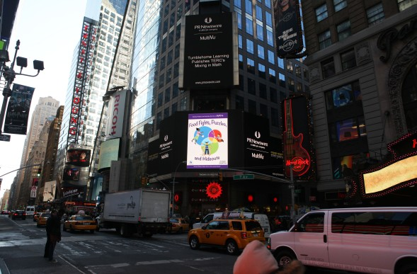 New Tumblehome Learning/TERC partnership broadcasted over Times Square!
